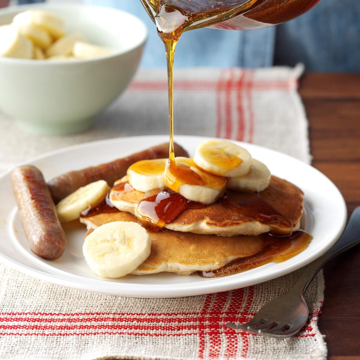 Banana oat pancakes recipe taste of home ccuart Image collections
