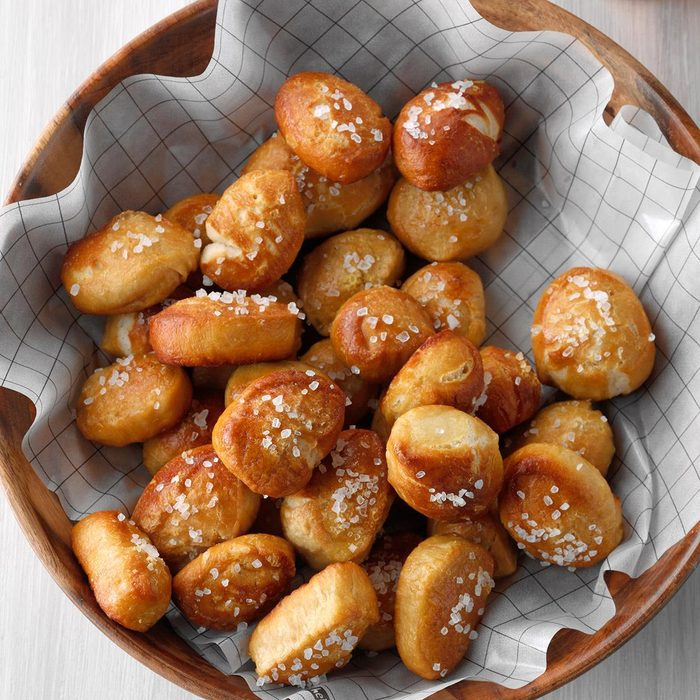 Pretzel Bites Based On Soft Beer Pretzels in a bowl