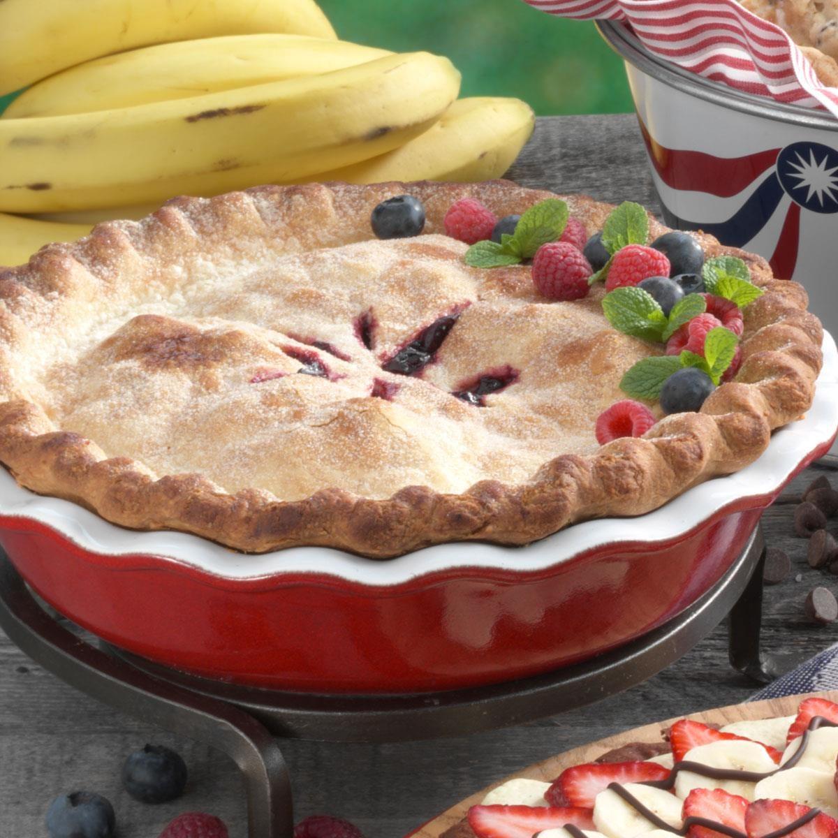 Blueberry Raspberry Pie Recipe