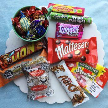 Assortment of British candy
