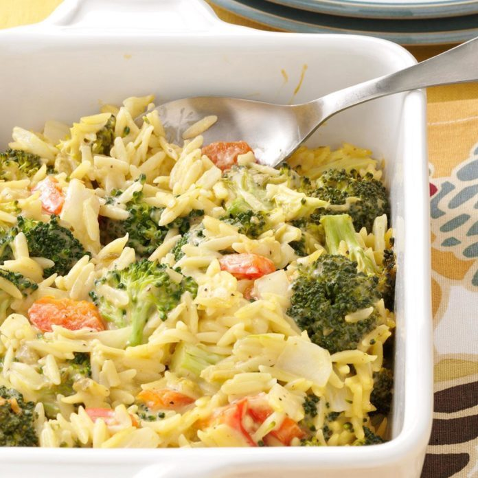 Broccoli Orzo Bake
