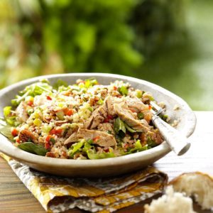 Brown Rice Salad with Grilled Chicken