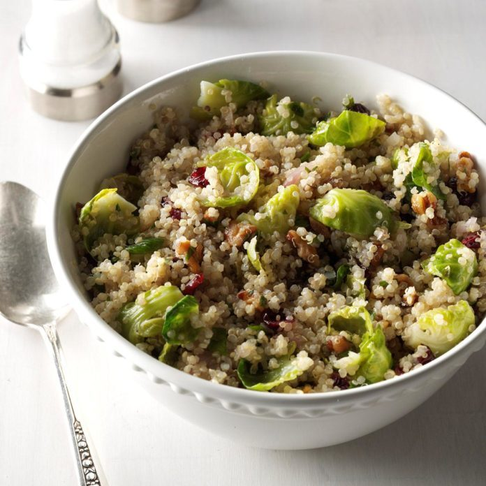 Brussels Sprouts Quinoa