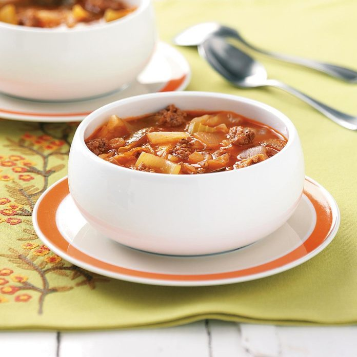 Sunday's Lunch: Cabbage Soup