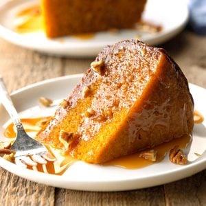 Caramel Pecan Pumpkin Cake