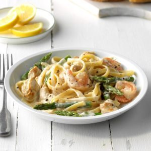 Chicken and Shrimp with Lemon Cream Sauce