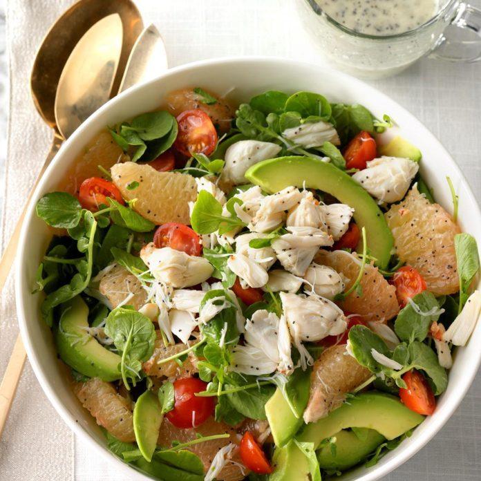 May 25: Crab, Grapefruit and Watercress Salad
