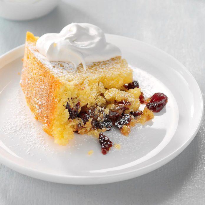 Cranberry-Almond Cornmeal Cake