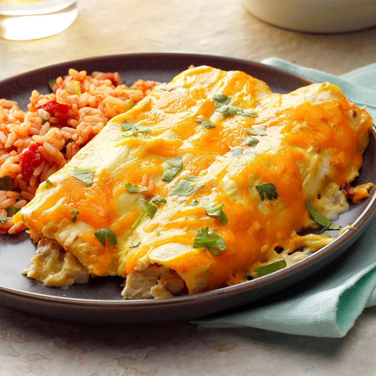 Creamy Chicken Enchiladas Recipe | Taste of Home