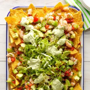Fresh Shrimp and Avocado Nachos