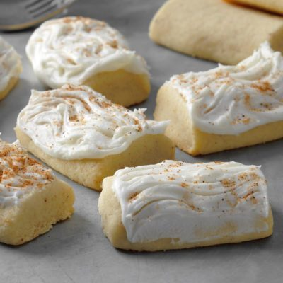Frosted Nutmeg Log Cookies