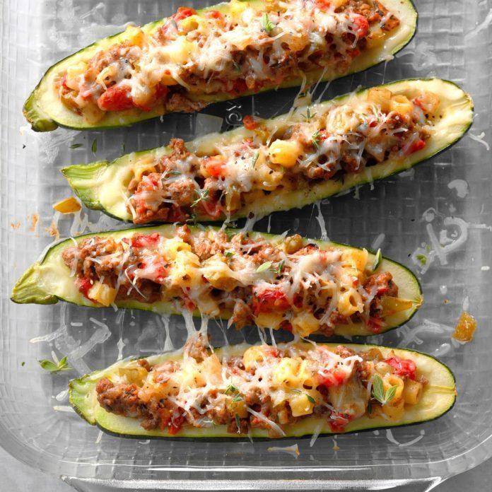 Summer: Garden-Stuffed Zucchini Boats