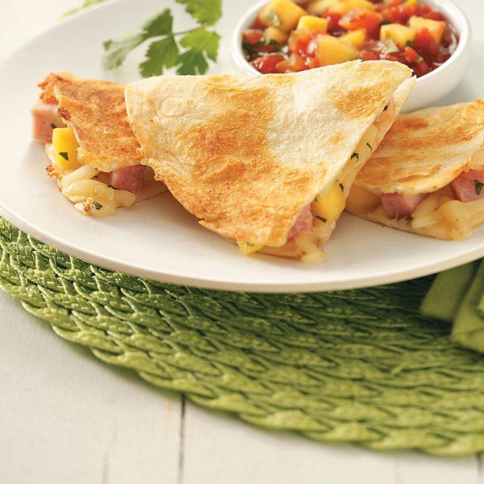 Ham & Mango Quesadillas for Two