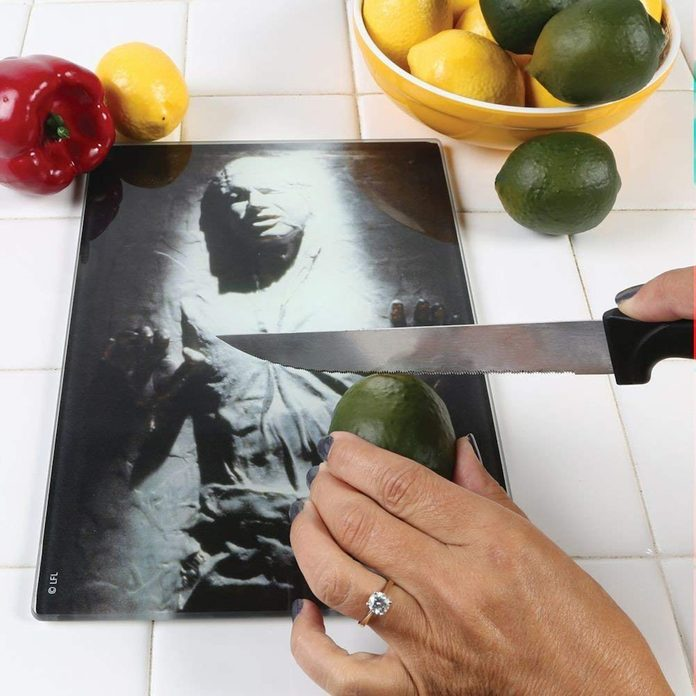 Han Solo Frozen in Carbonite cutting board