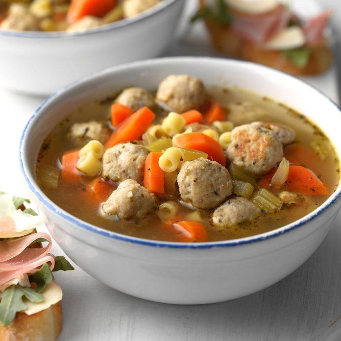 Hearty Turkey Meatball Soup