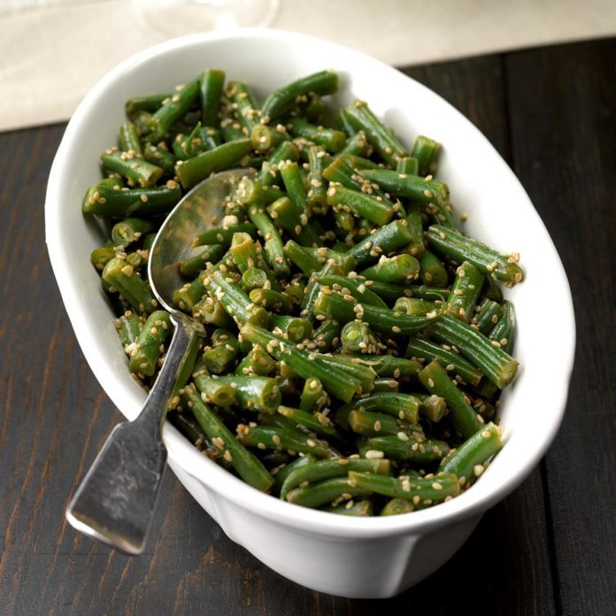 Lemon-Sesame Green Beans