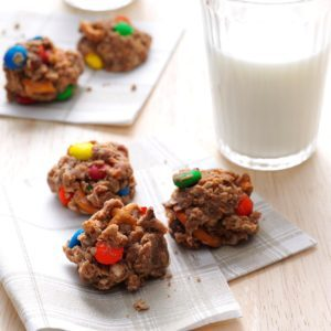 M&M & Pretzel Cookies