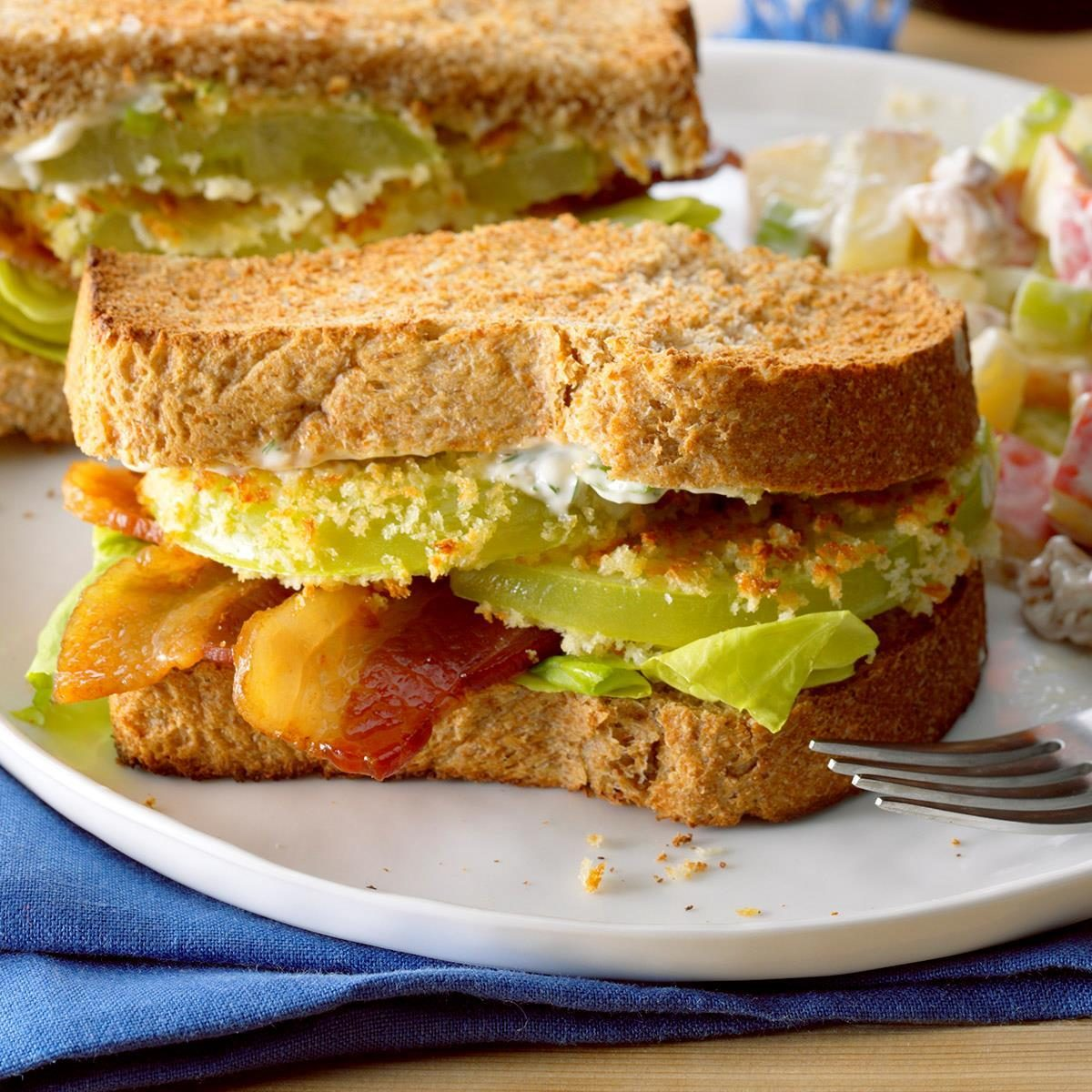Air Fryer Green Tomato BLT