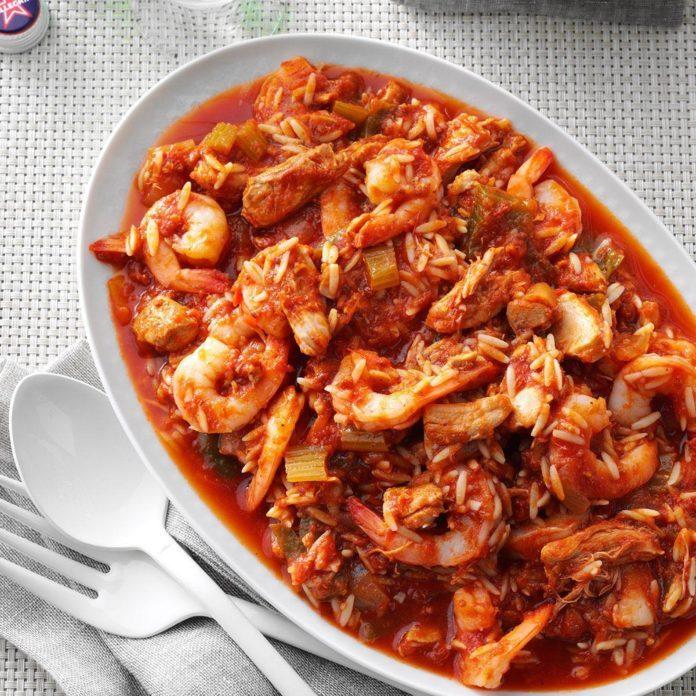 Pressure Cooker Italian Shrimp 'n' Pasta