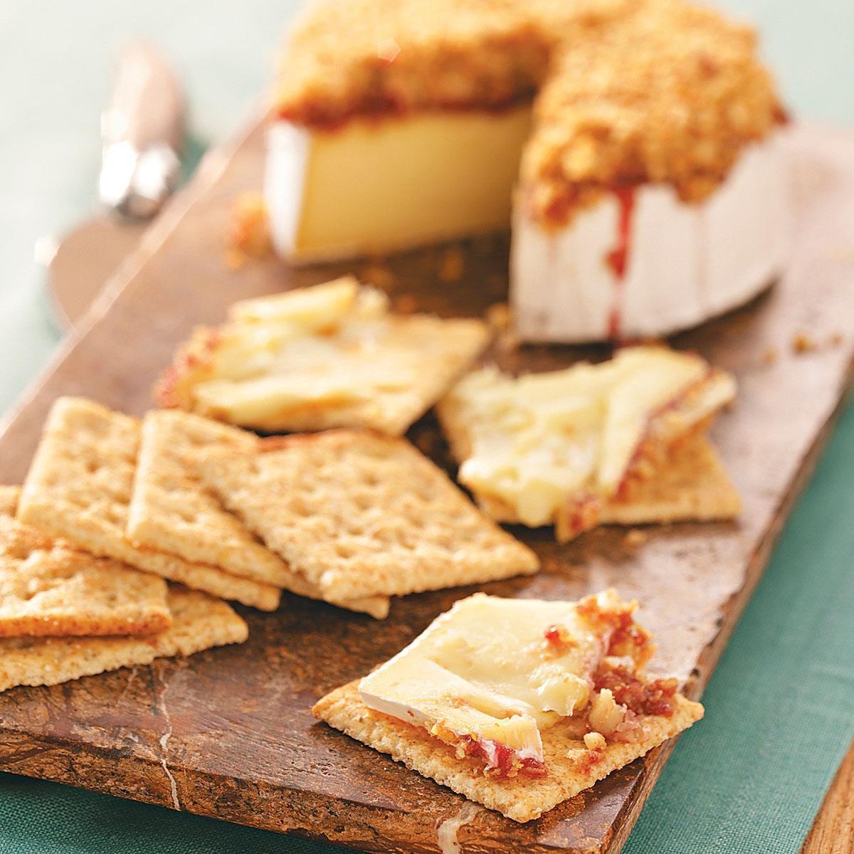Raspberry-Walnut Brie