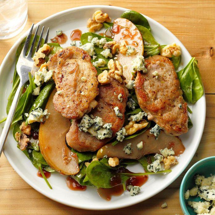 Raspberry-Walnut Pork Salad
