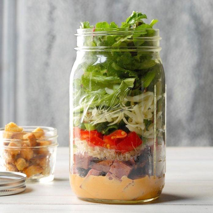 Reuben Salad in a Jar