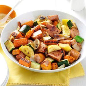 Roasted Kielbasa & Vegetables