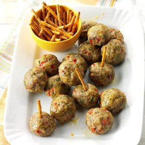 Air-Fryer Rosemary Sausage Meatballs