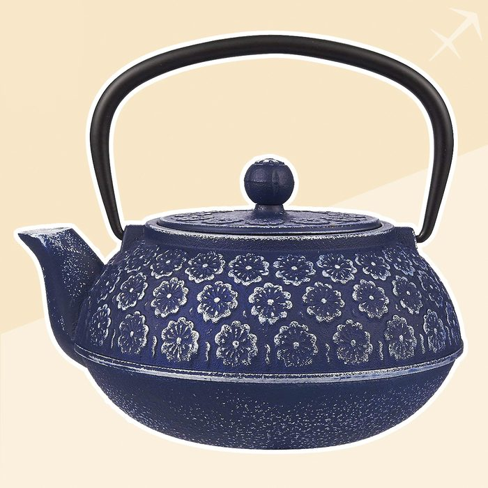 Sagittarius japanese tea kettle