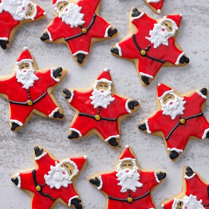 Santa Star Cookies