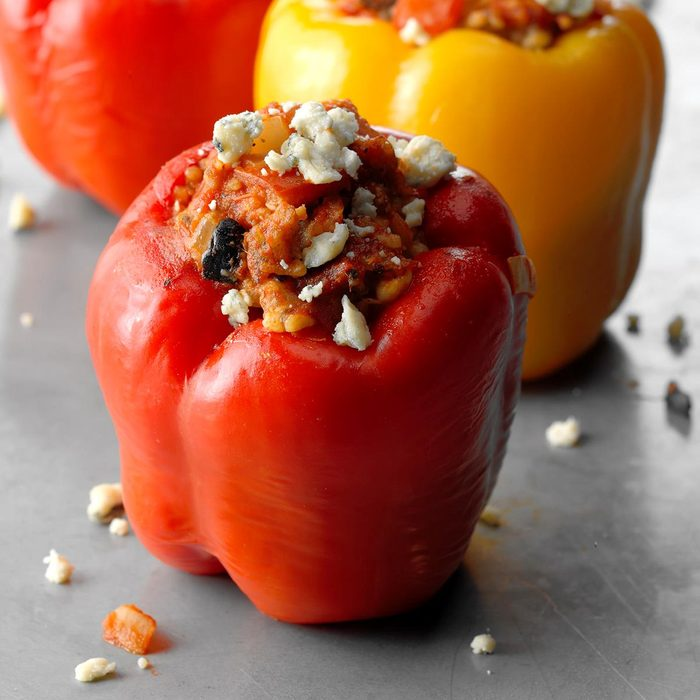 Sausage and Blue Cheese Stuffed Peppers