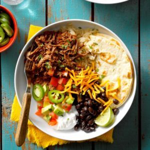 Pressure Cooker Shredded Beef Burrito Filling