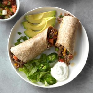 Slow-Cooked Beef Burritos with Green Chiles