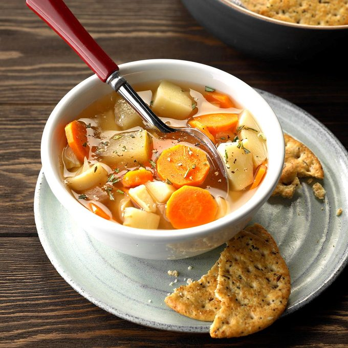 Slow Cooker Parsnip and Apple Soup