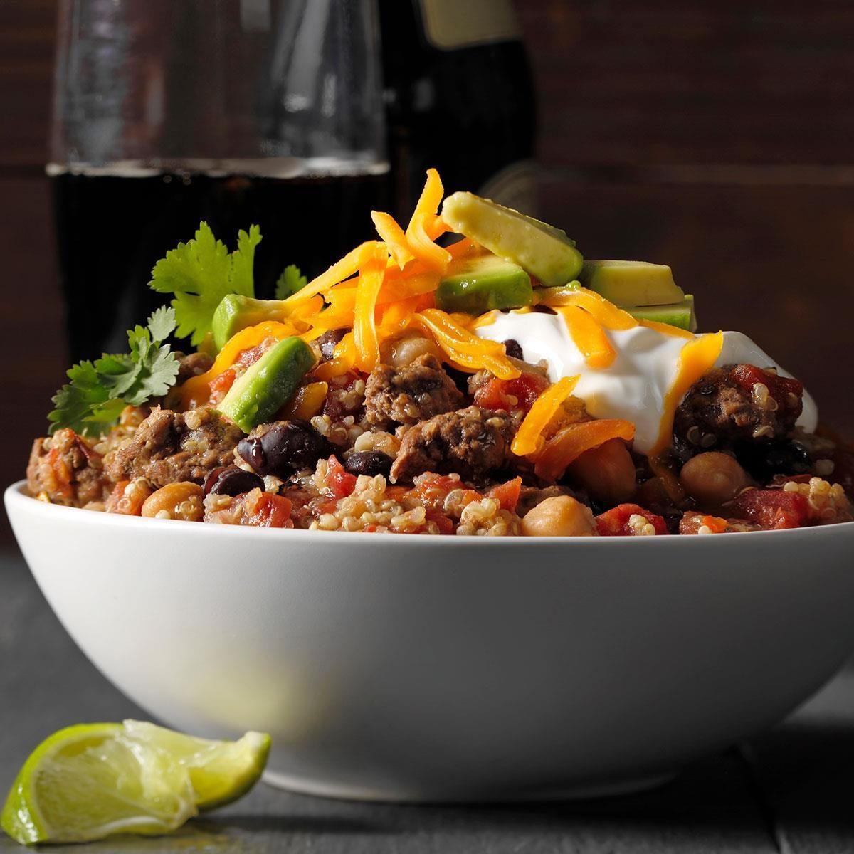 Slow-Cooker Quinoa Chili Recipe