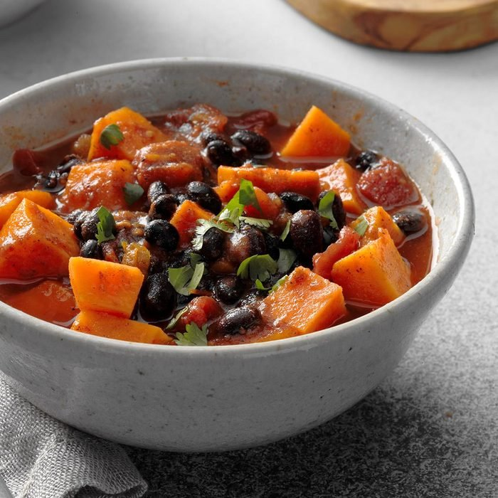 Slow Cooker Spicy Sweet Potato Chili