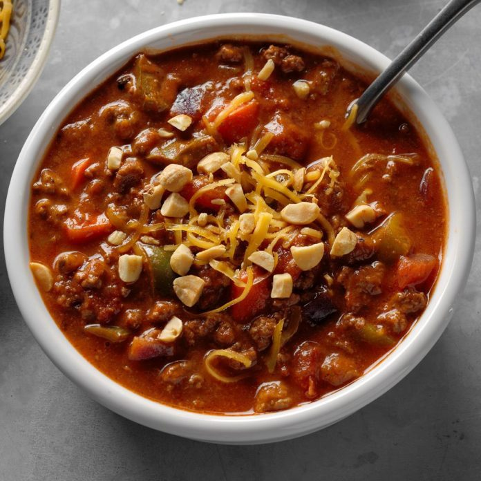 Smoky Peanut Butter Chili