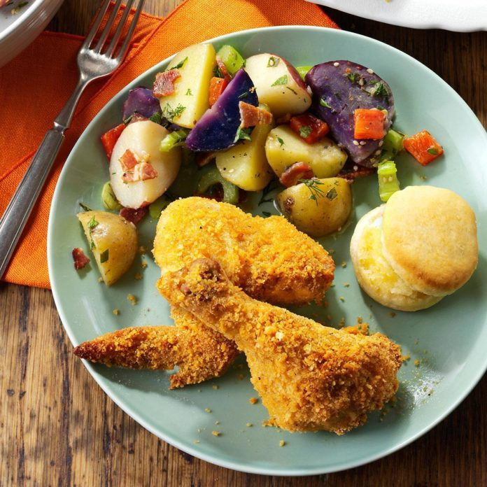 Air Fryer Southern Style Chicken Recipe Taste Of Home