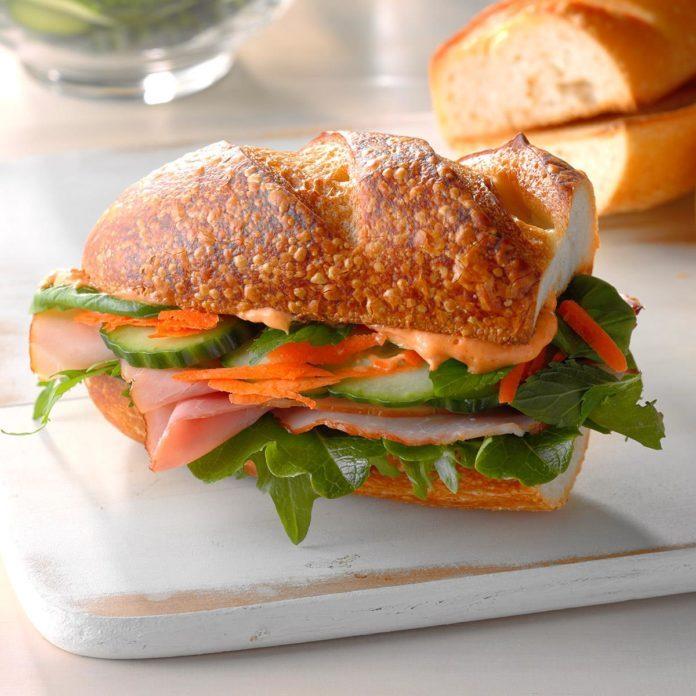 Spicy Asian Ham Sandwiches