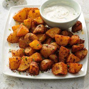 Spicy Potatoes with Garlic Aioli