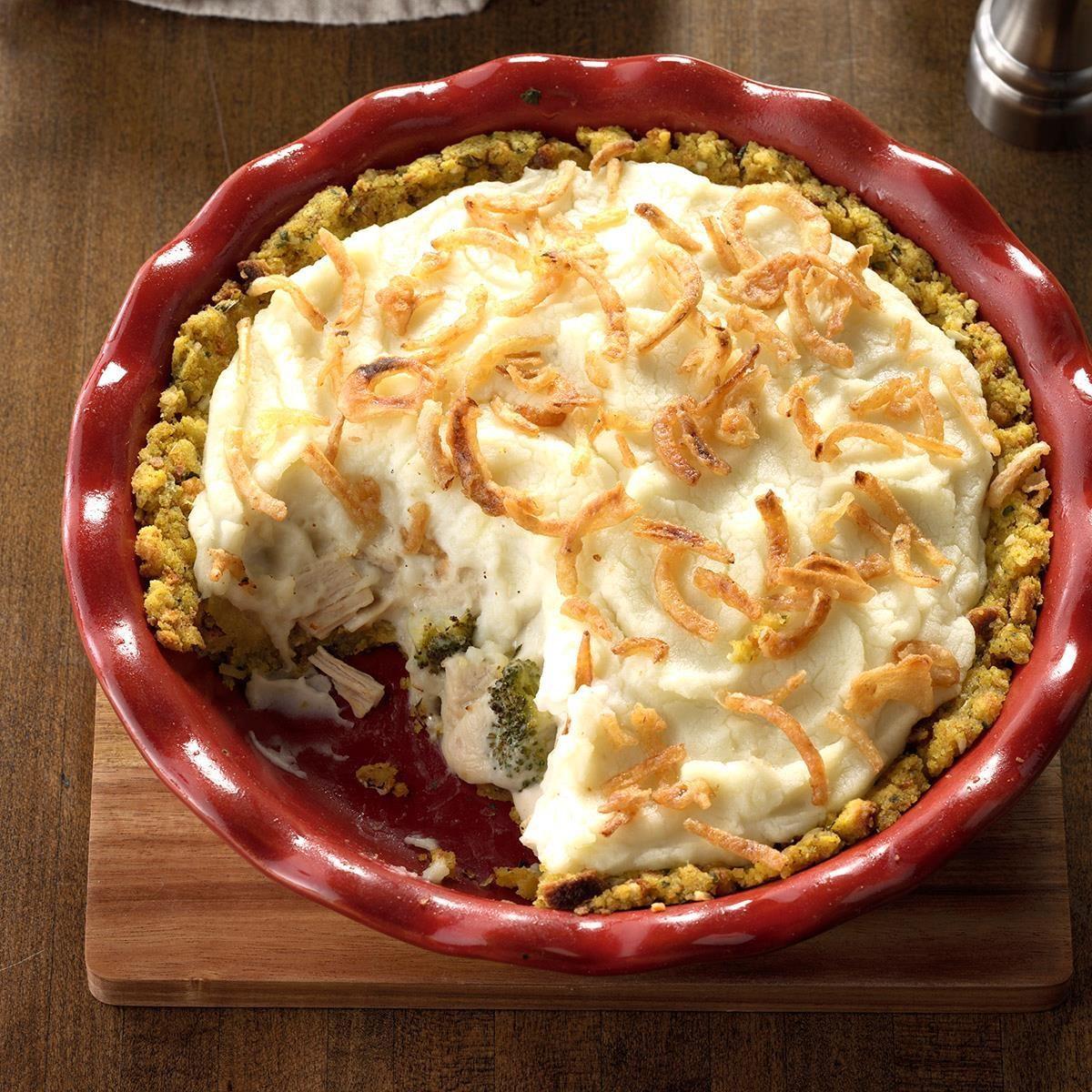 Turkey Potpies Recipe: Stuffing Crust Turkey Potpie Recipe