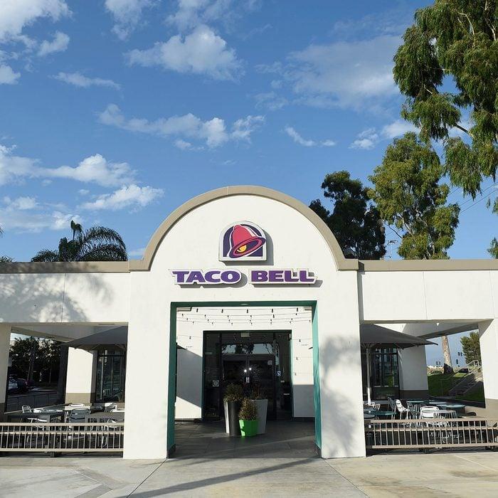 Taco Bell restaurant in Orange County, California.