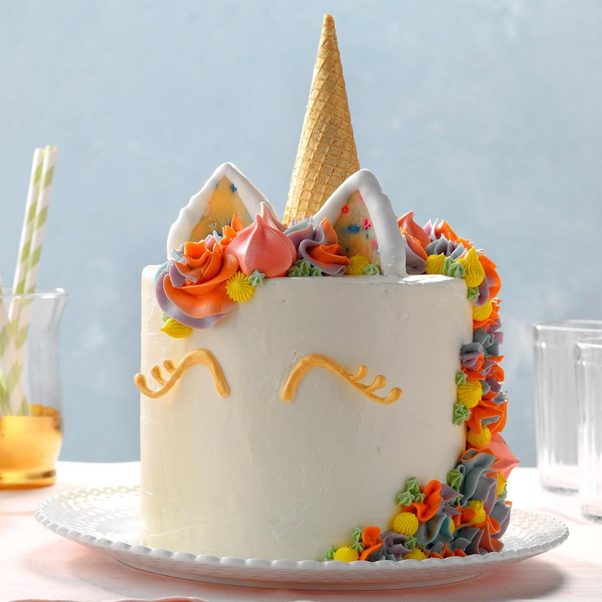 Awesome Unicorn Cake Recipe Taste Of Home Personalised Birthday Cards Veneteletsinfo