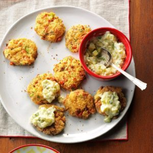 Air-Fryer Wasabi Crab Cakes