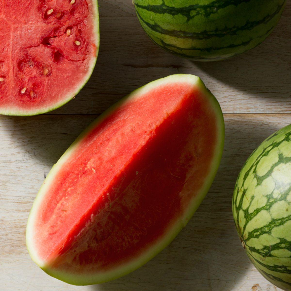 Watermelon cut via Taste of Home