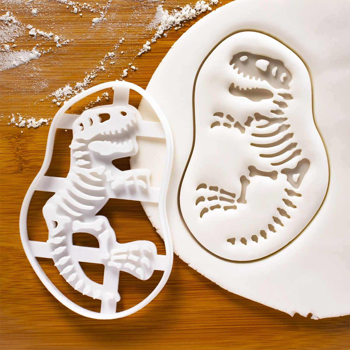 Fossil T-Rex cookie cutter and other dinosaurs | biscuit cutter | Tyrannosaurus rex | creative hunt extinct T Rex dinosaur | ooak |Bakerlogy