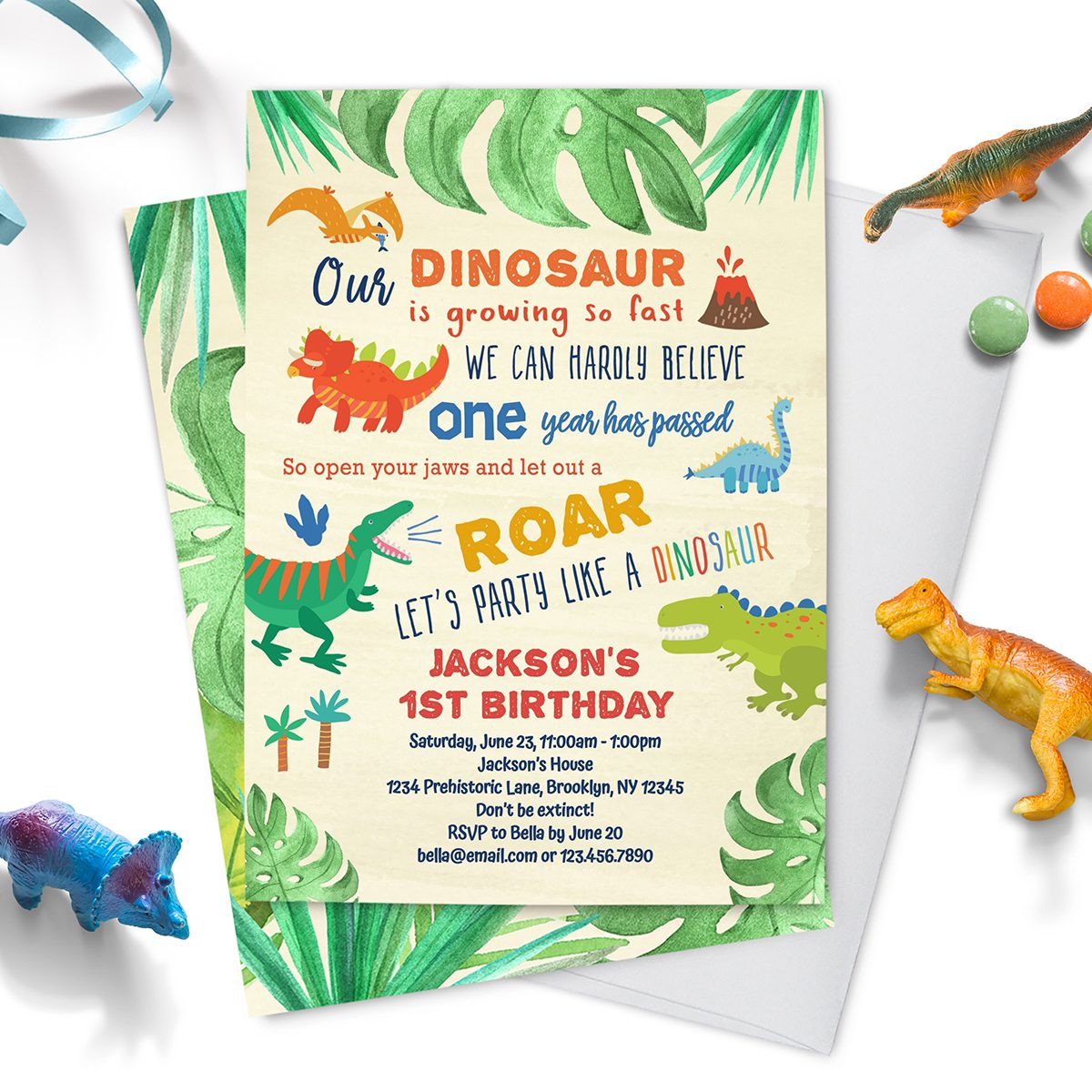 dinosaur first birthday invitation instant download EDITABLE TEMPLATE | roar boys T rex dinosaur 1st birthday party invitations | Dino party