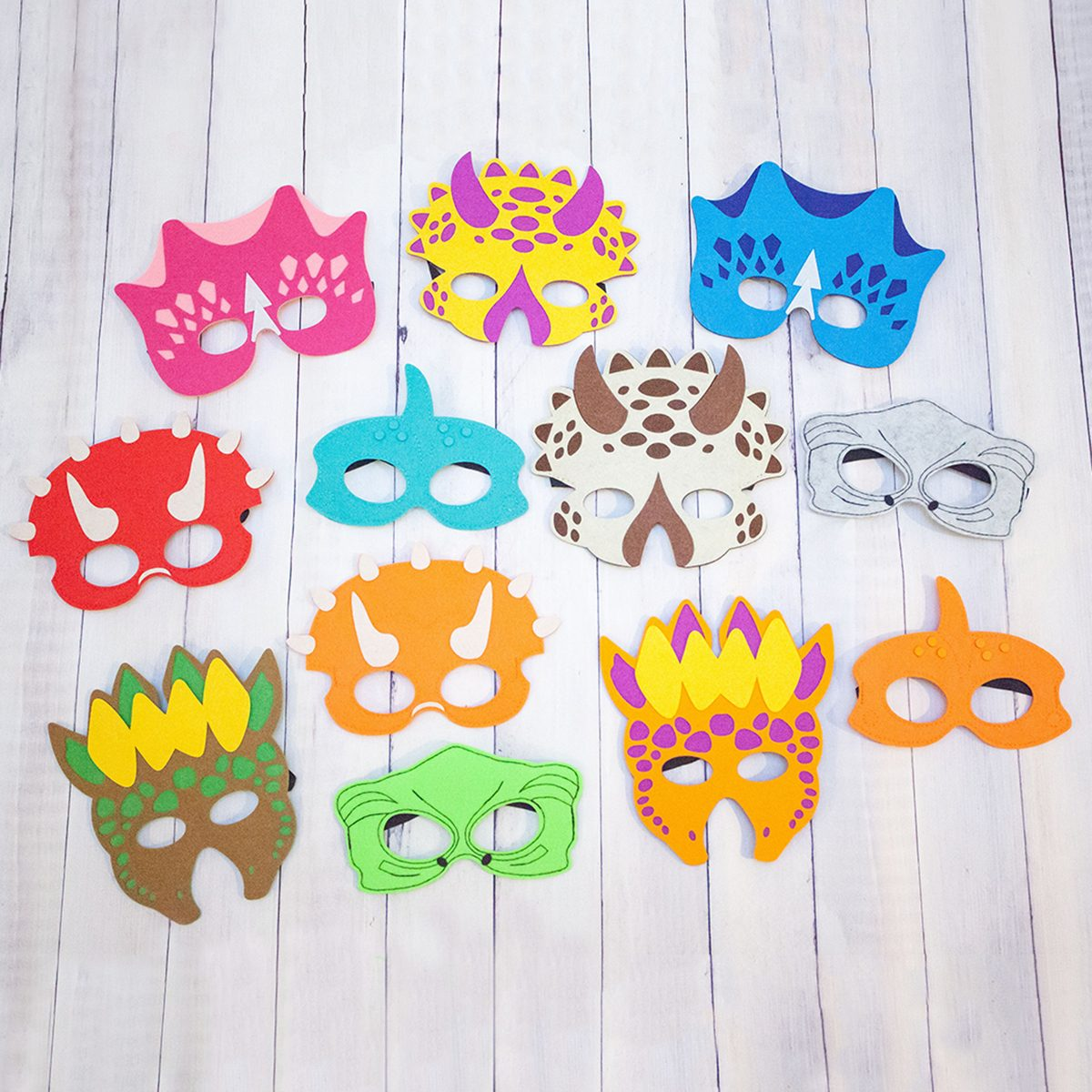 Dinosaur Party Masks For Children Party Favor Dress Up Pretend Play Party Pack