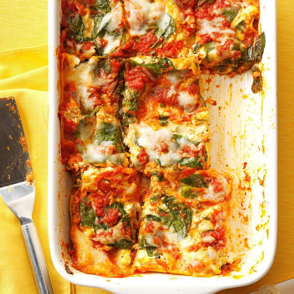 Spinach-Basil Lasagna Recipe