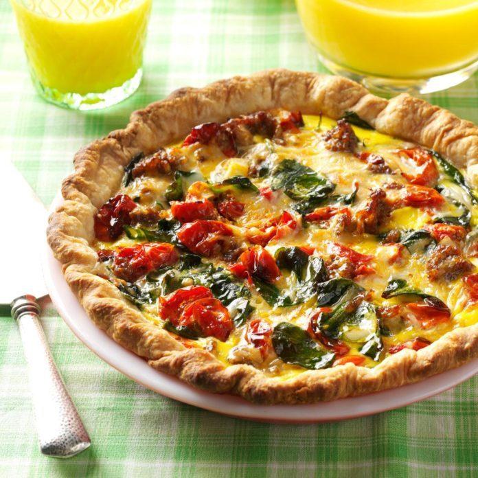 Roasted Tomato Quiche
